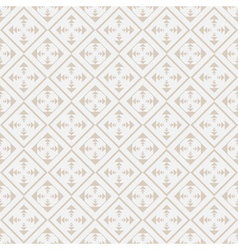 Seamless geometric pattern in retro style vector image