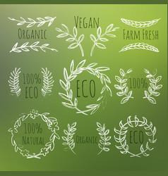 green labels set vector image vector image