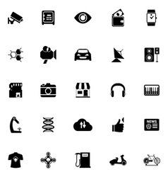 Hitechnology icons on white background vector image vector image
