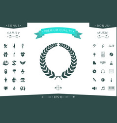 laurel wreath for yor design vector image
