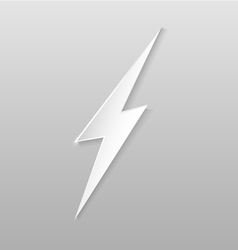 Origami lightning flat icon vector image vector image