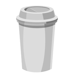 Paper cup for coffee icon gray monochrome style vector