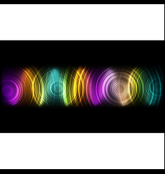Abstract technological colorful sound wave vector