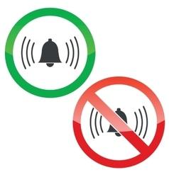 Alarm permission signs set vector image