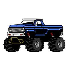American big foot pick up truck vector