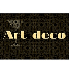 Art deco the glass and the inscription vector