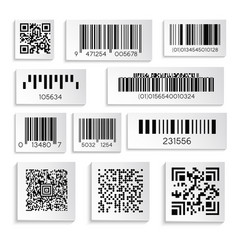 barcodes or products sticker with cipher or serial vector image