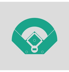 Baseball field aerial view icon vector image