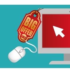 Big offer sale online technology vector