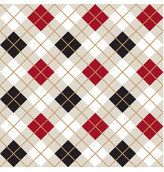 black and red argyle harlequin seamless pattern vector image