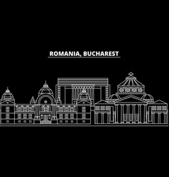 Bucharest silhouette skyline romania - bucharest vector