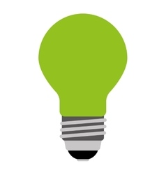 bulb light green isolated icon design vector image