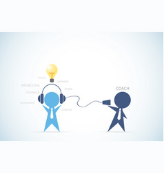 businessman coaching another businessman vector image