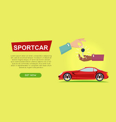 buying sportcar online car sale web banner vector image