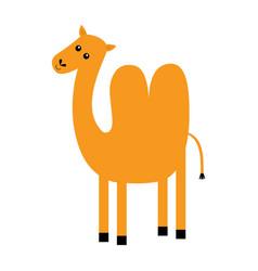 Camel icon two hump cute cartoon funny kawaii vector