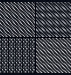 carbon fiber seamless patterns vector image