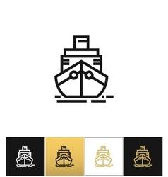 Cargo ship sign or cruise shipping icon vector