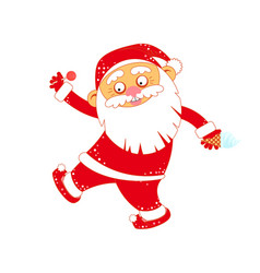 christmas santa claus with ice cream and lollipop vector image