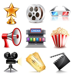 Cinema icons set vector image