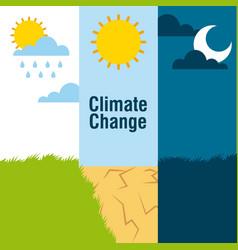 Climate change banners landscape raining desert vector
