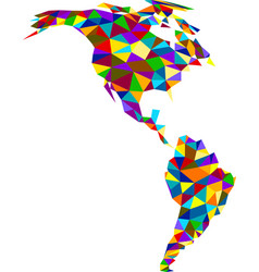 Colorful geometric abstract america map vector