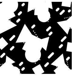 Contour geometric figures memphis style background vector