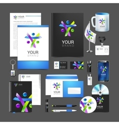 corporate identity creative people package vector image