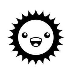 cute sun kawaii character vector image