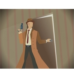 Detective noir style colored vector