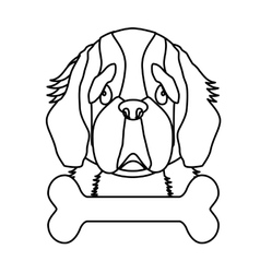 Dog breed icon image vector