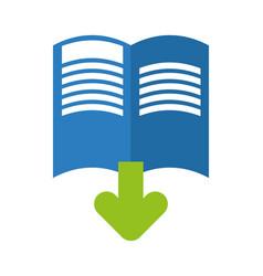ebook with arrow download vector image