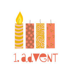 first sunday in advent vector image