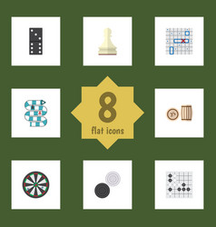 Flat icon play set of multiplayer arrow gomoku vector