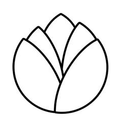 Flower floral petal icon vector image