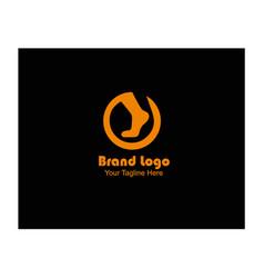 Foot image logo vector