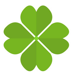 four leaf clover icon flat style vector image