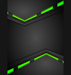 Green and black contrast gradients tech design vector image