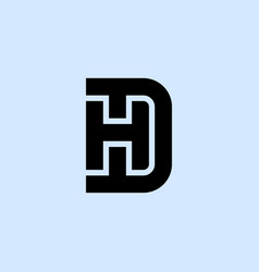 H and d logo hd - monogram or logotype design vector