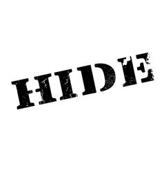 hide rubber stamp vector image