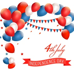 Holiday American background with colorful balloons vector image