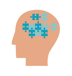 Human head puzzle idea collaboration vector