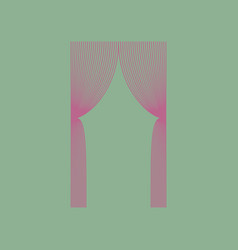 Icon in flat design curtains vector