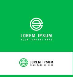 initial letter logo e inside e rounded lowercase vector image