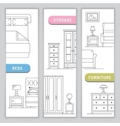 interior of bedroom vector image vector image