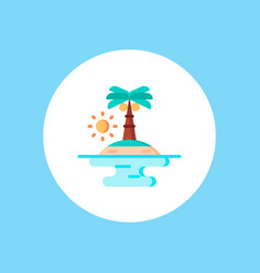 island icon sign symbol vector image