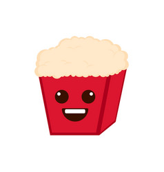 isolated happy popcorn emote vector image