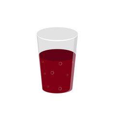 isolated soda glass icon vector image