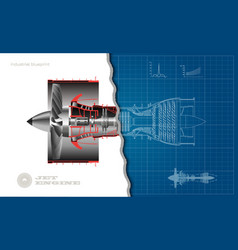 Jet engine airplane in outline style vector
