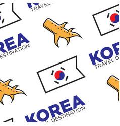 Korea travel destination korean flag and ginger vector