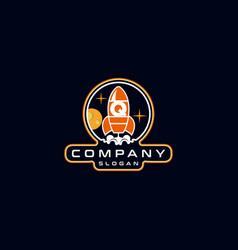 Letter q rocket logo design vector